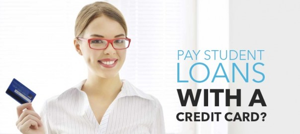 how to pay down student loan debt with a credit card