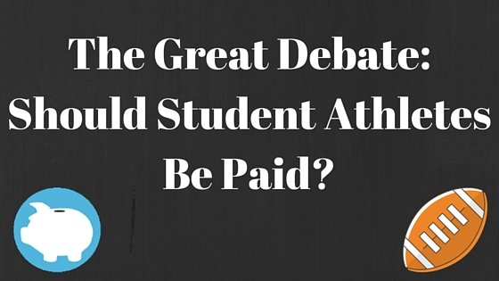 paying college athletes debate The debate about paying college athletes (pros and cons) [gail terp, arpad olbey] on amazoncom free shipping on qualifying offers provides a thorough overview of.