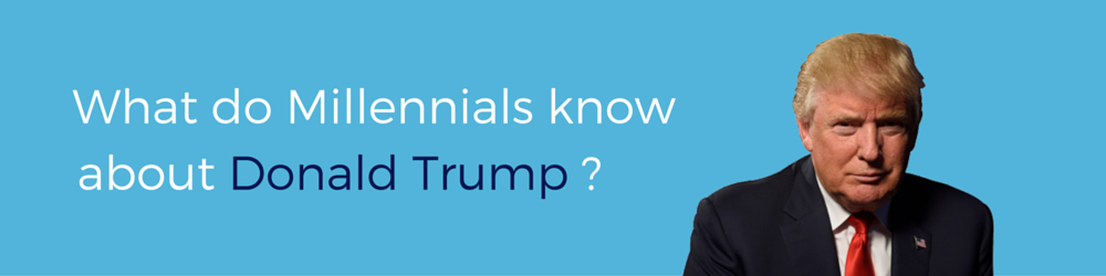 Millennials and Donald Trump Survey Banner