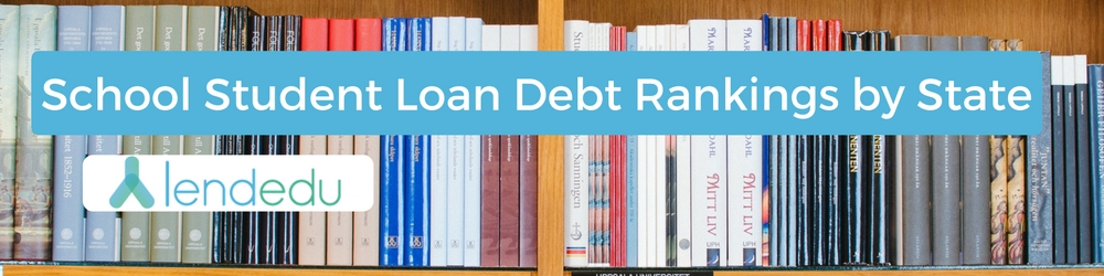 school student loan debt rankings by state