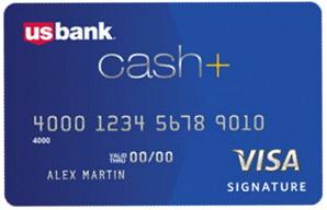 US BAnk Cash+ Visa Signature Credit Card