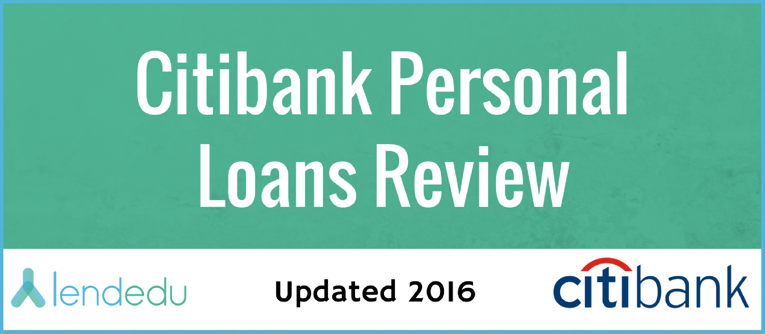Citibank loan rates and terms
