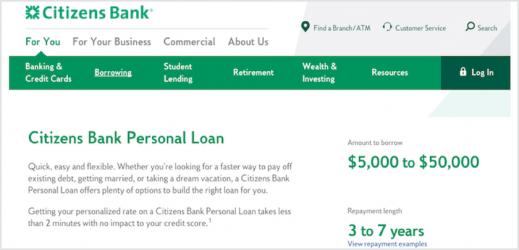Citizens Bank Personal Loans Review
