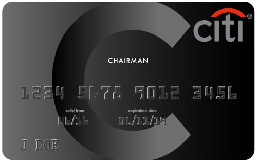citi black chairman card