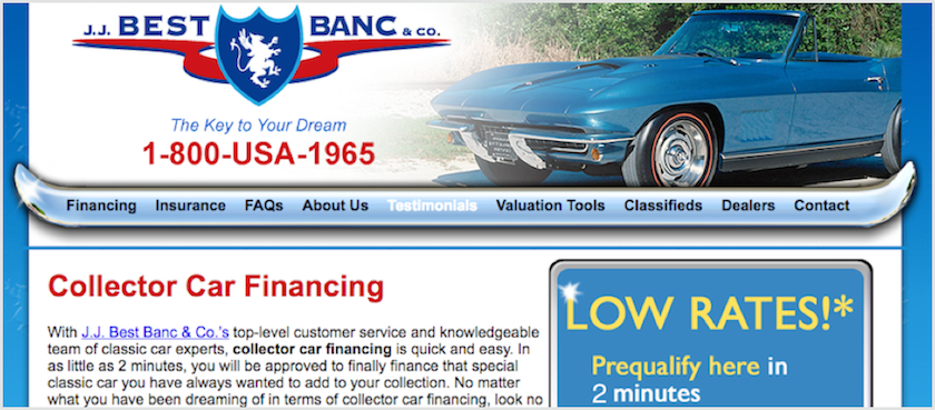 JJ Best Banc Review LendEDU - Classic car financing