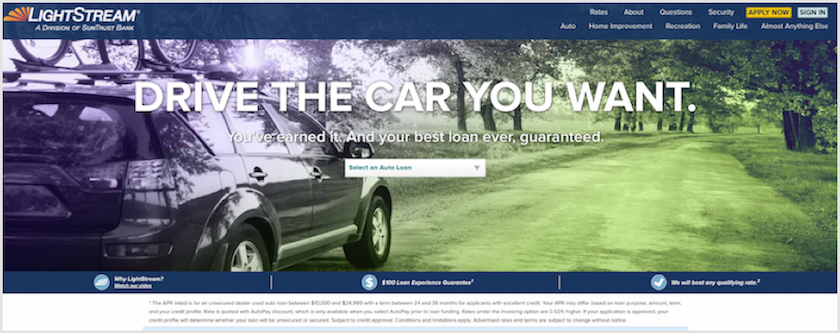LightStream Auto Loan Review