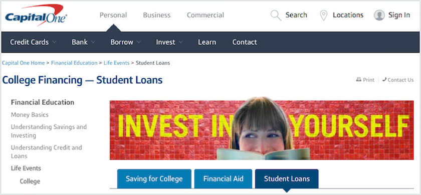 capital one student loans review lendedu