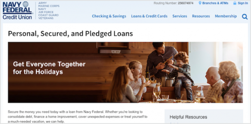 Navy Federal Personal Loans Review