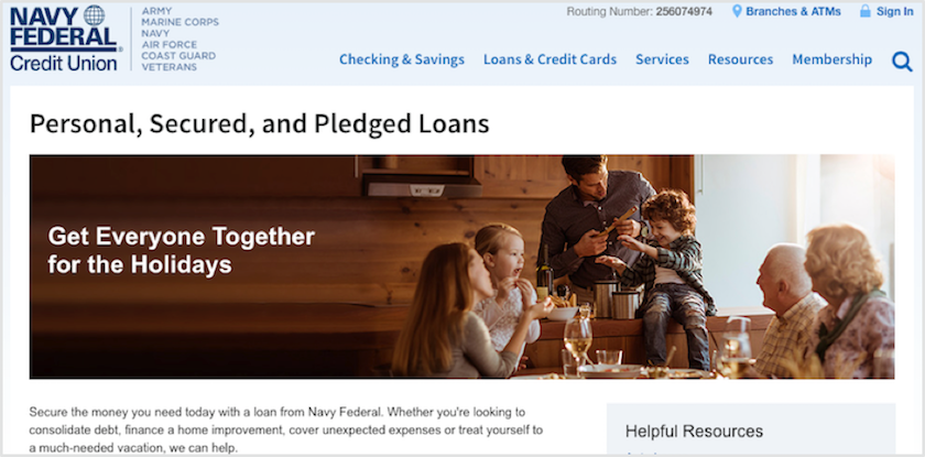 Navy Army Federal Credit Union Loans Review