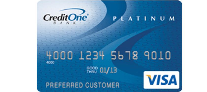 Credit One Platinum Visa Credit Card Review