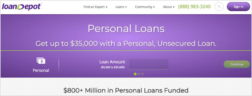 LoanDepot Personal Loans