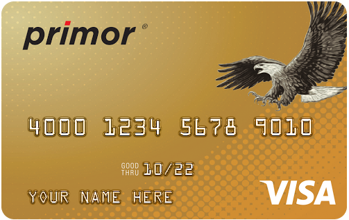 Green Dot Primor Secured Visa Gold Credit Card