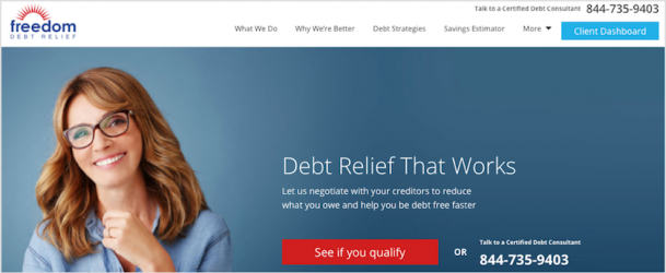 Freedom Debt Relief Homepage