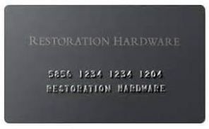 Restoration Hardware Credit Card