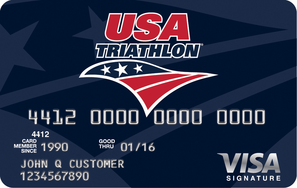USA Triathlon Visa Rewards Credit Card