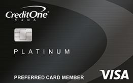 Credit One Bank Platinum Visa for Rebuilding Credit