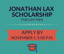 The Johnathan Lax Scholarship Fund for Gay Men logo