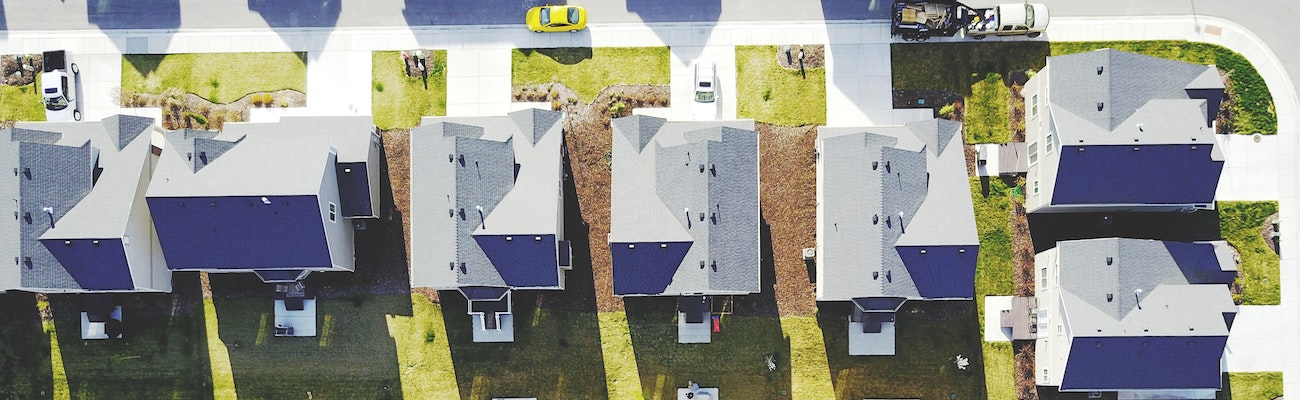 Houses in a development