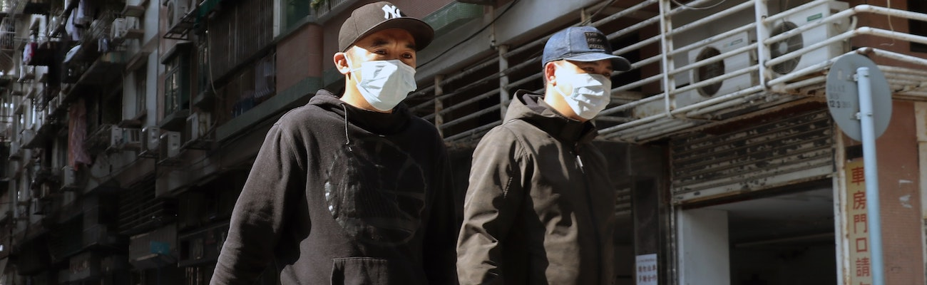 Men wearing masks during the coronavirus outbreak