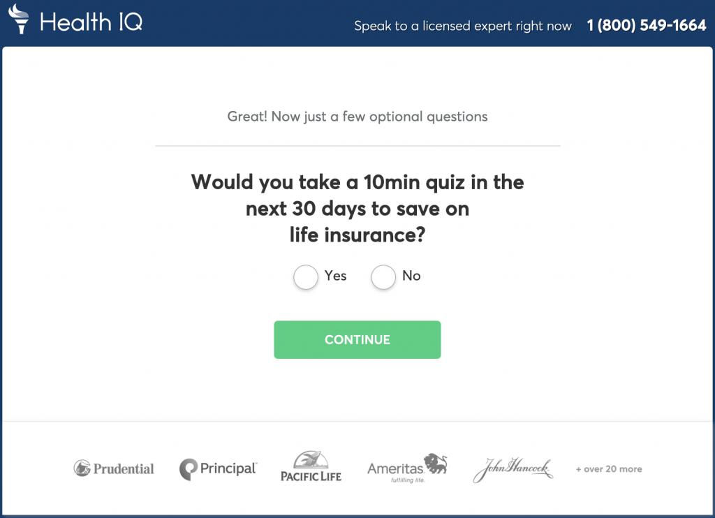 Health IQ Quiz Savings