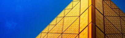 A gold pyramid