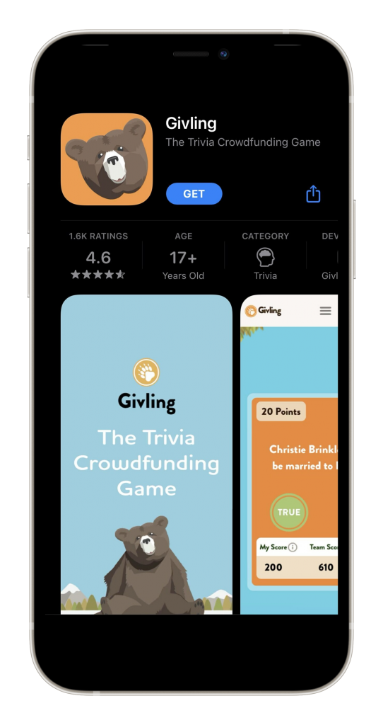 Givling mobile app
