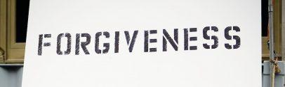 A forgiveness sign